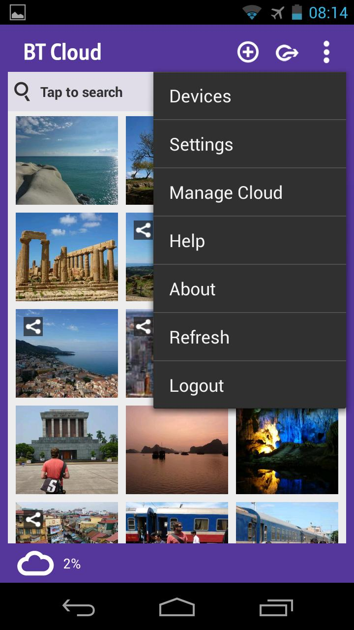 Camera Cloud On Android Phone bt cloud storage app now on android eurodroid 2