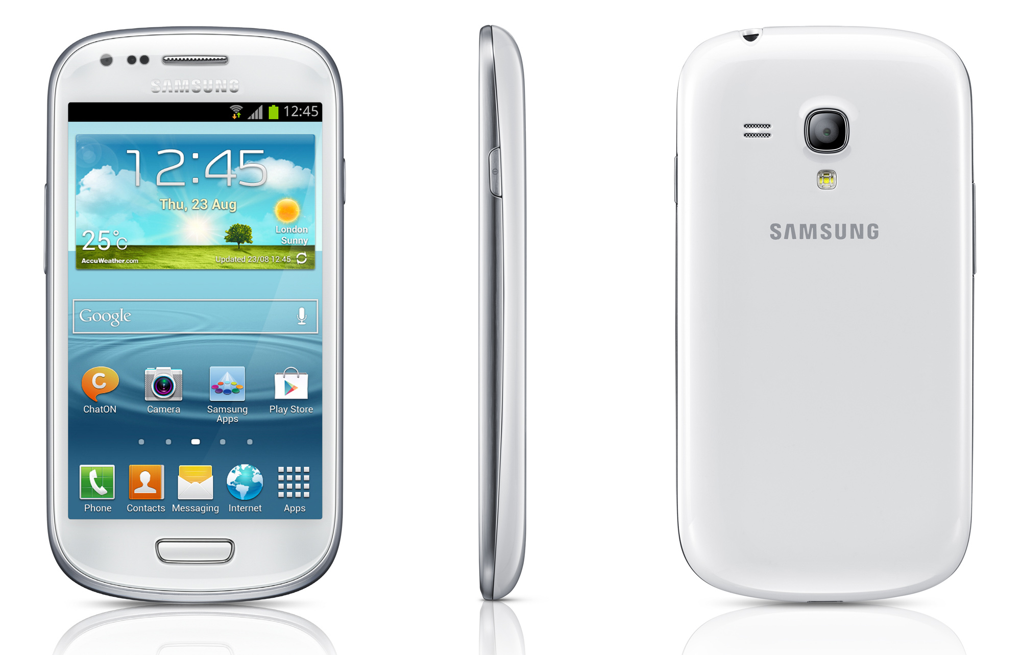 "Samsung Galaxy S III Mini – Android 4.1 on a 4""display"