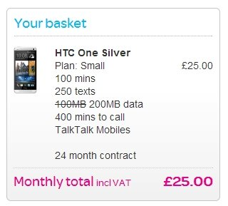 htc one silver talktalk