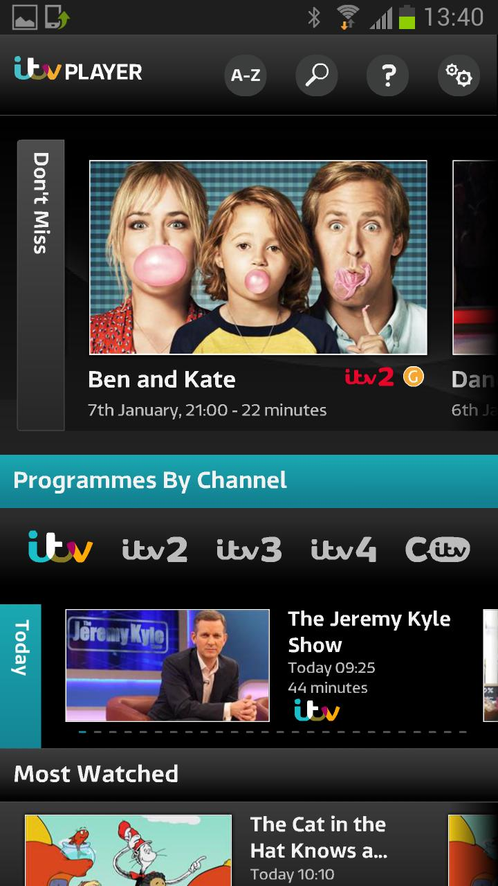 Updated ITV Player app only for Samsung phones and tablets | EURODROID