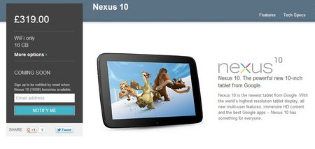 nexus 10 play