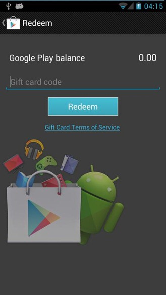 Gift Cards coming soon to Google Play