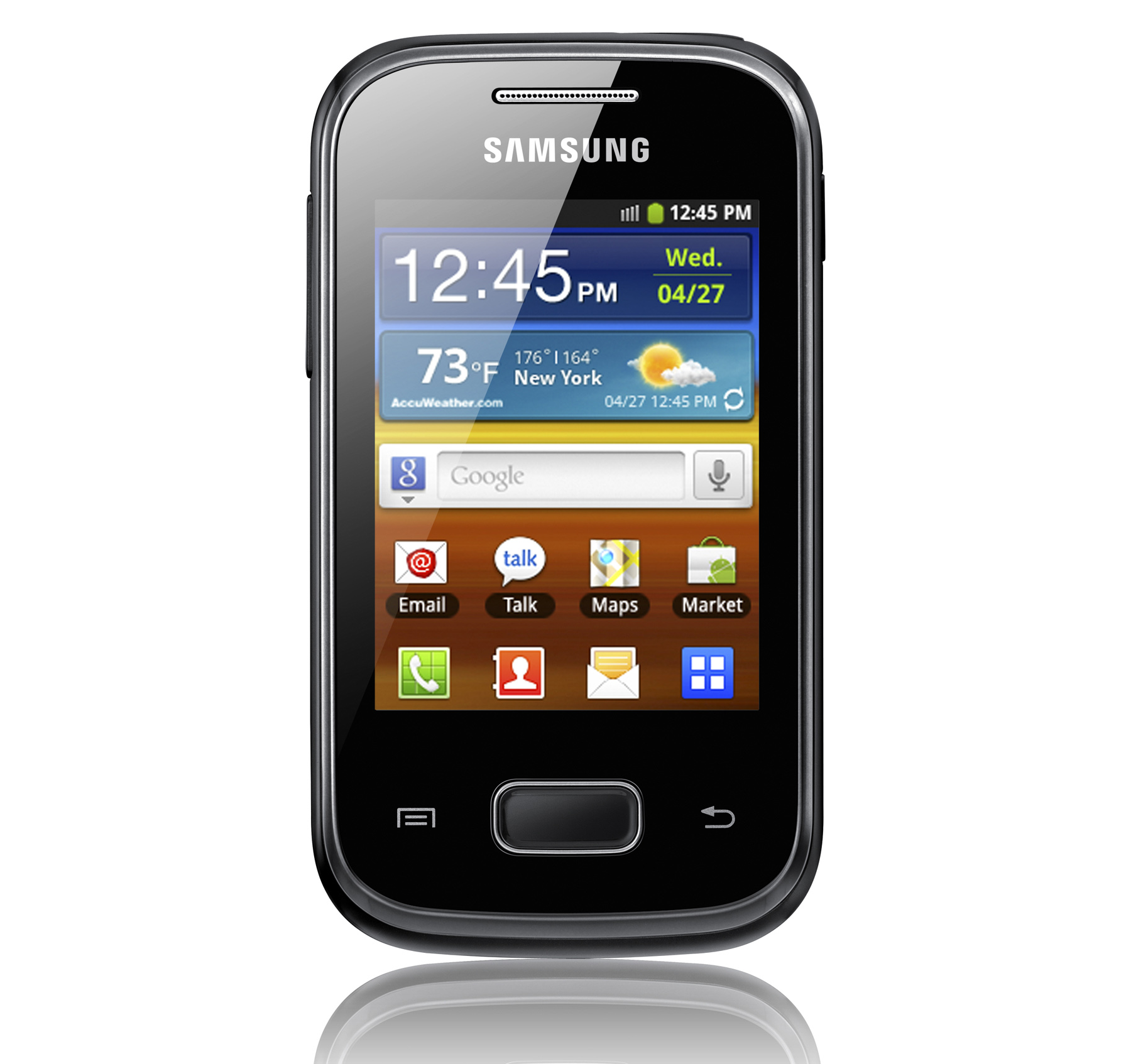 "Samsung Galaxy Pocket – Android 2.3 on a 2.8"" display"