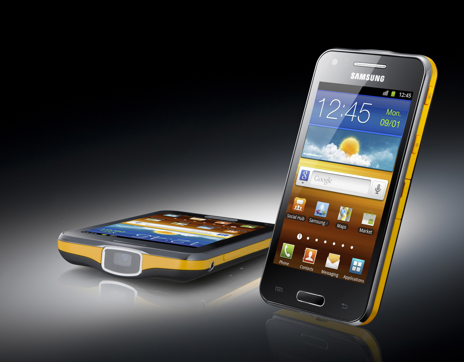 ... from Samsung, with the Galaxy Beam's full tech specs at the end