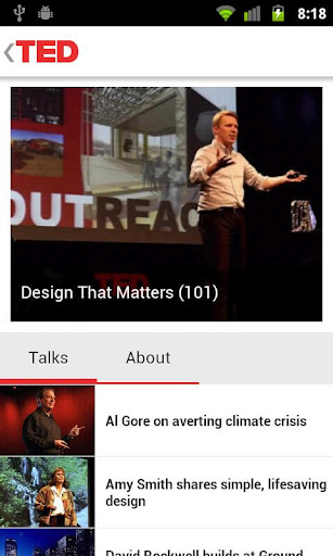 Ted Youtube: TED Tech Talks Now Available Through Official Android App