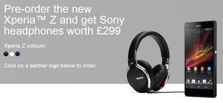 xperia z orders headphones