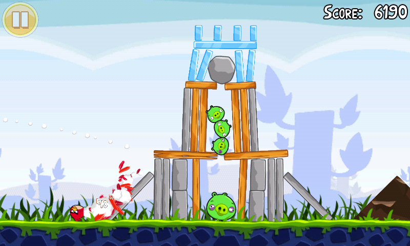full android angry birds out free and ad supported due to angry birds free 800x480