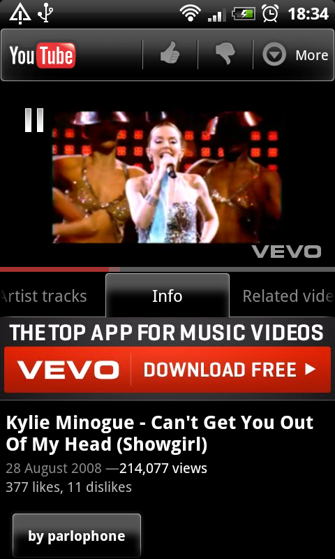 Vevo Downloader For Android: Android YouTube App Now One Big (broken) Advert For VEVO