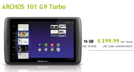 archos g9 turbo launch