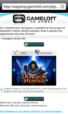 dungeon hunter hd android 1