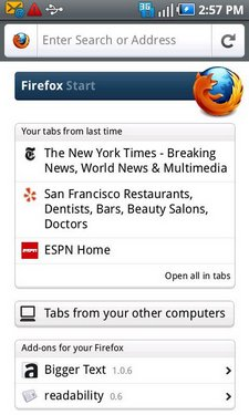 firefox 5 android update 1