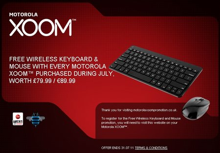 free xoom wireless accessories