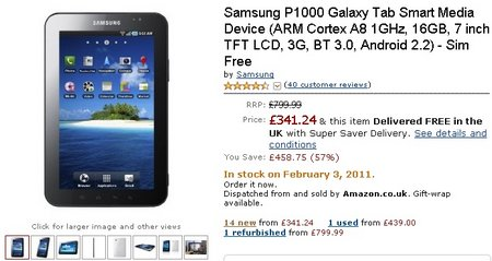 galaxy tab amazon price crash