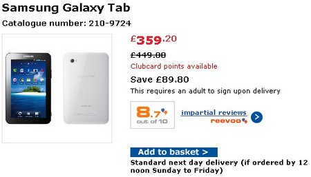 galaxy tab tesco