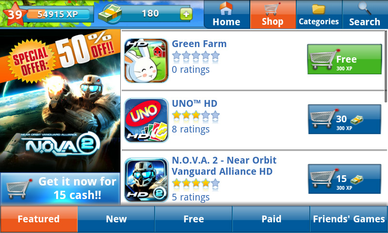 Gameloft LIVE! standalone Android gaming store now launched | EURODROID