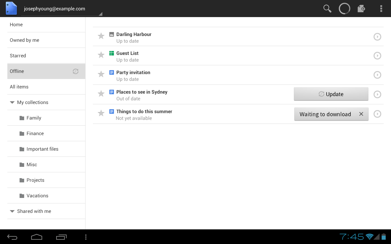 google adds offline sync to google docs android app With google docs sync android
