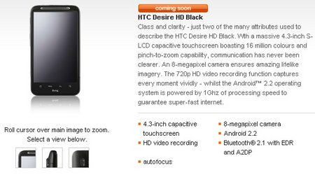htc desire hd black orange
