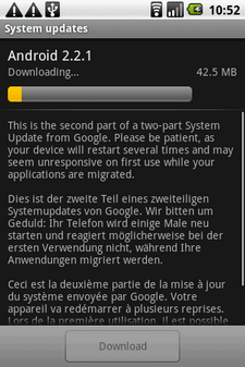 htc magic froyo update 1