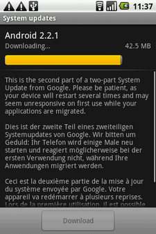 htc magic froyo update 2