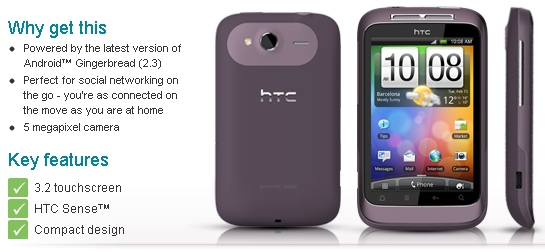 HTC Wildfire S now in stock at Vodafone – in white ...