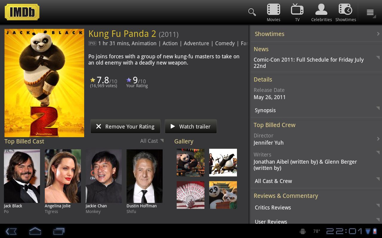 Imdb android app updated now with tablet support eurodroid imdb android app updated now with tablet support stopboris Gallery