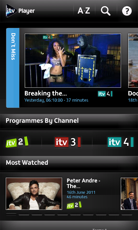 Mobile itv player android