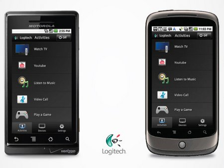 logitech harmony remote android iphone app