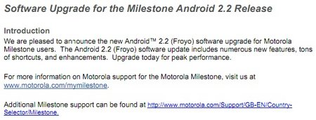 milestone android 22 update