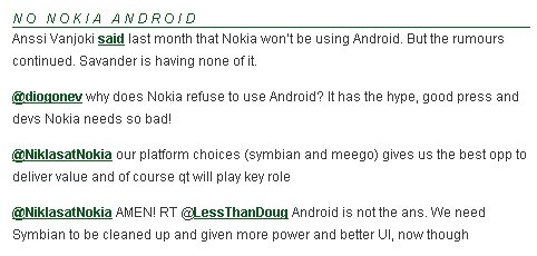 nokia android refusal