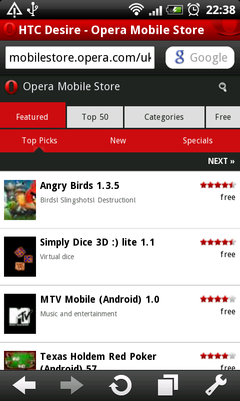Android Opera Mobile 10 1 beta available NOW via Opera's FTP