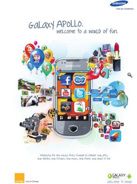 samsung galaxy apollo orange uk