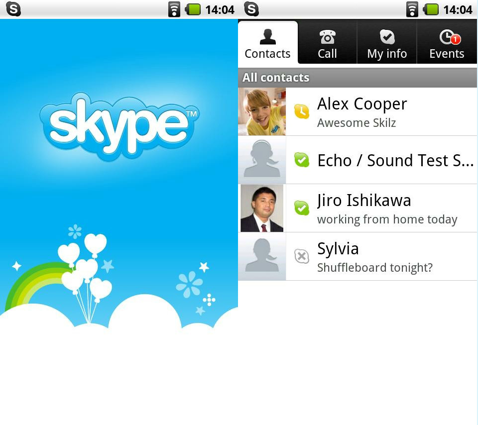 new skype for android unlocks voip 3g wi fi calling eurodroid