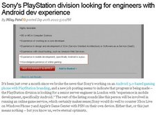 sony android developer recruitment