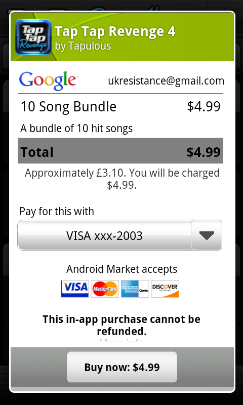 Google Play Purchase UI
