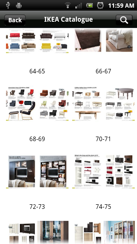 android ikea catalogue app now includes uk product listings eurodroid. Black Bedroom Furniture Sets. Home Design Ideas
