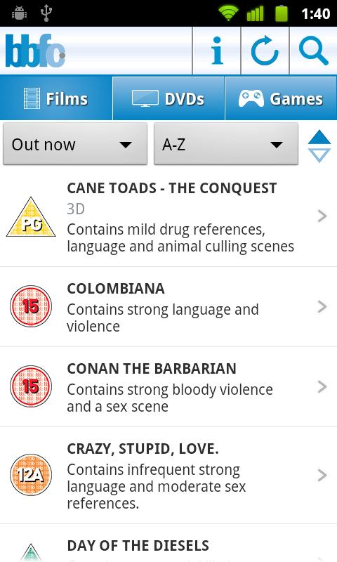 BBFC launches official Android film classifications app ...