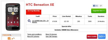 sensation xe o2 deal