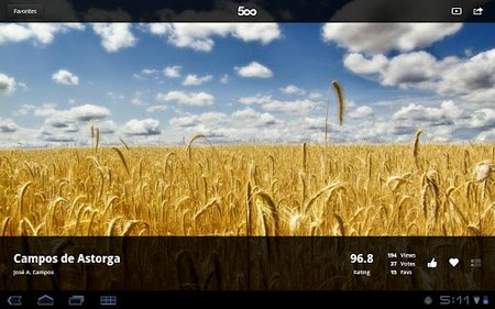 500px android app 2